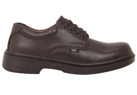 ROC Strobe Older Boys/Mens Brown Comfortable Leather School Shoes