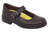 ROC Lara Younger Girls/Kids Brown School Shoes