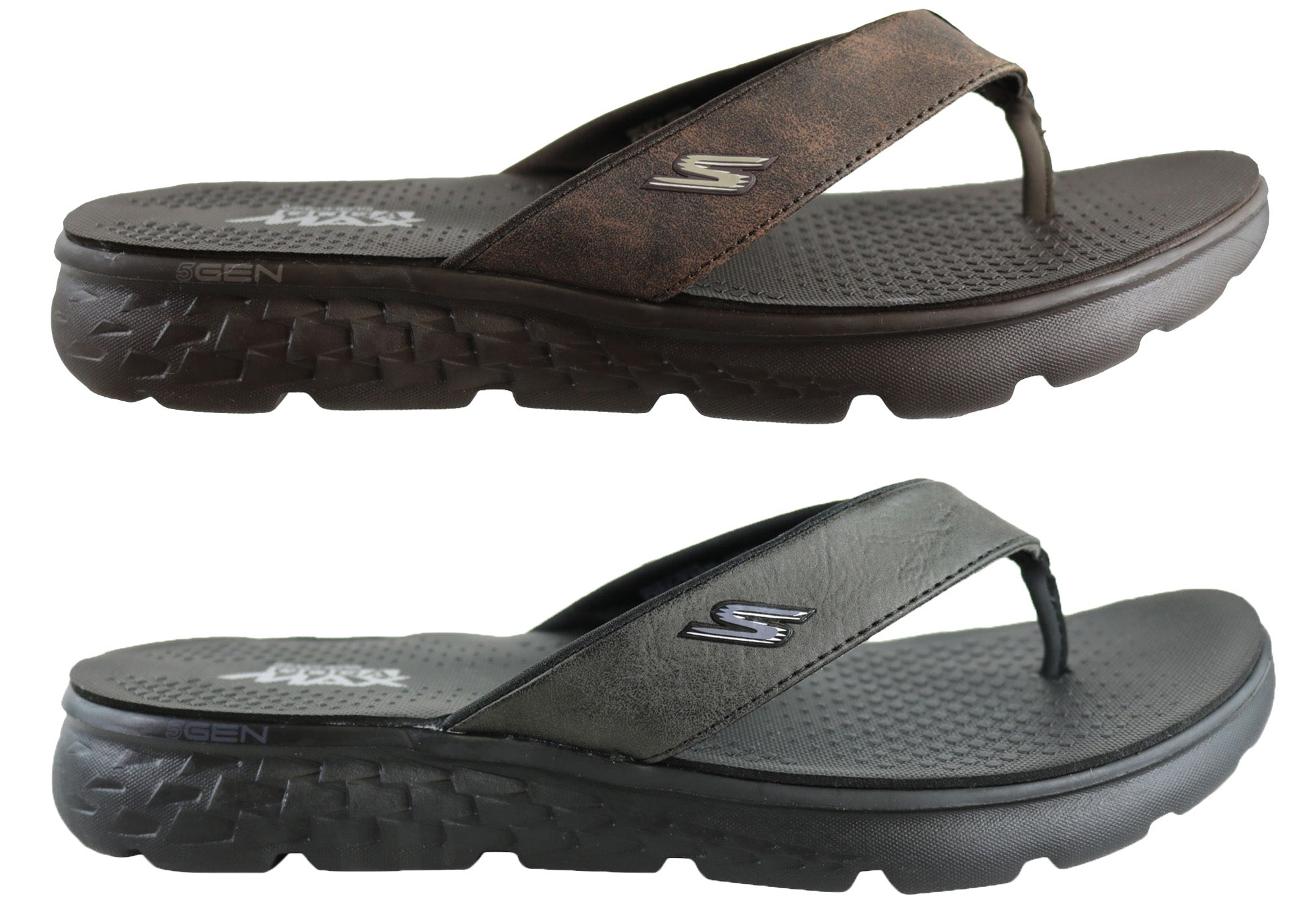 e8655bc8554a Mens Skechers On The Go 400 Vista Comfortable Thongs Flip Flops ...