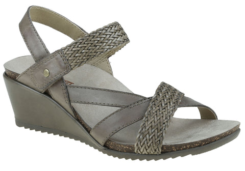 Planet Shoes Paloma Womens Leather Comfort Wedge Sandals
