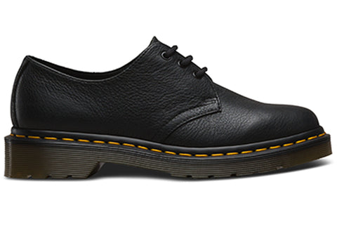 Dr Martens 1461 Womens Virginia Black Leather Lace Up Shoes