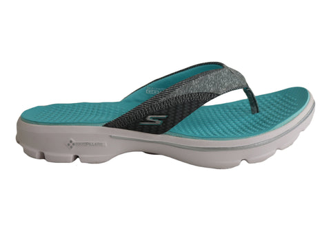 Skechers Womens Go Walk Pizazz Comfortable Thongs