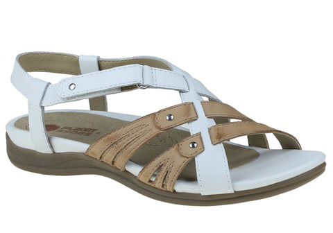 Planet Shoes Iris Womens Leather Flat Supportive Comfort Sandals