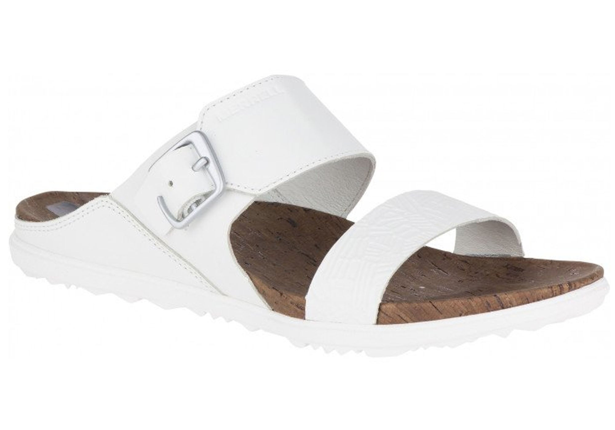 19fbe1ff0f9f Home Merrell Womens Leather Around Town Buckle Slide Comfort Sandals. White  · Tan · Black · Red · Brown ...