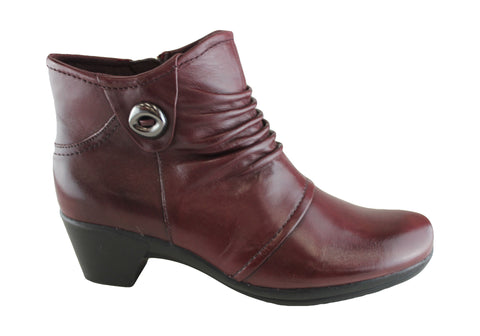 Planet Shoes Ashton Womens Leather Comfort Ankle Boots