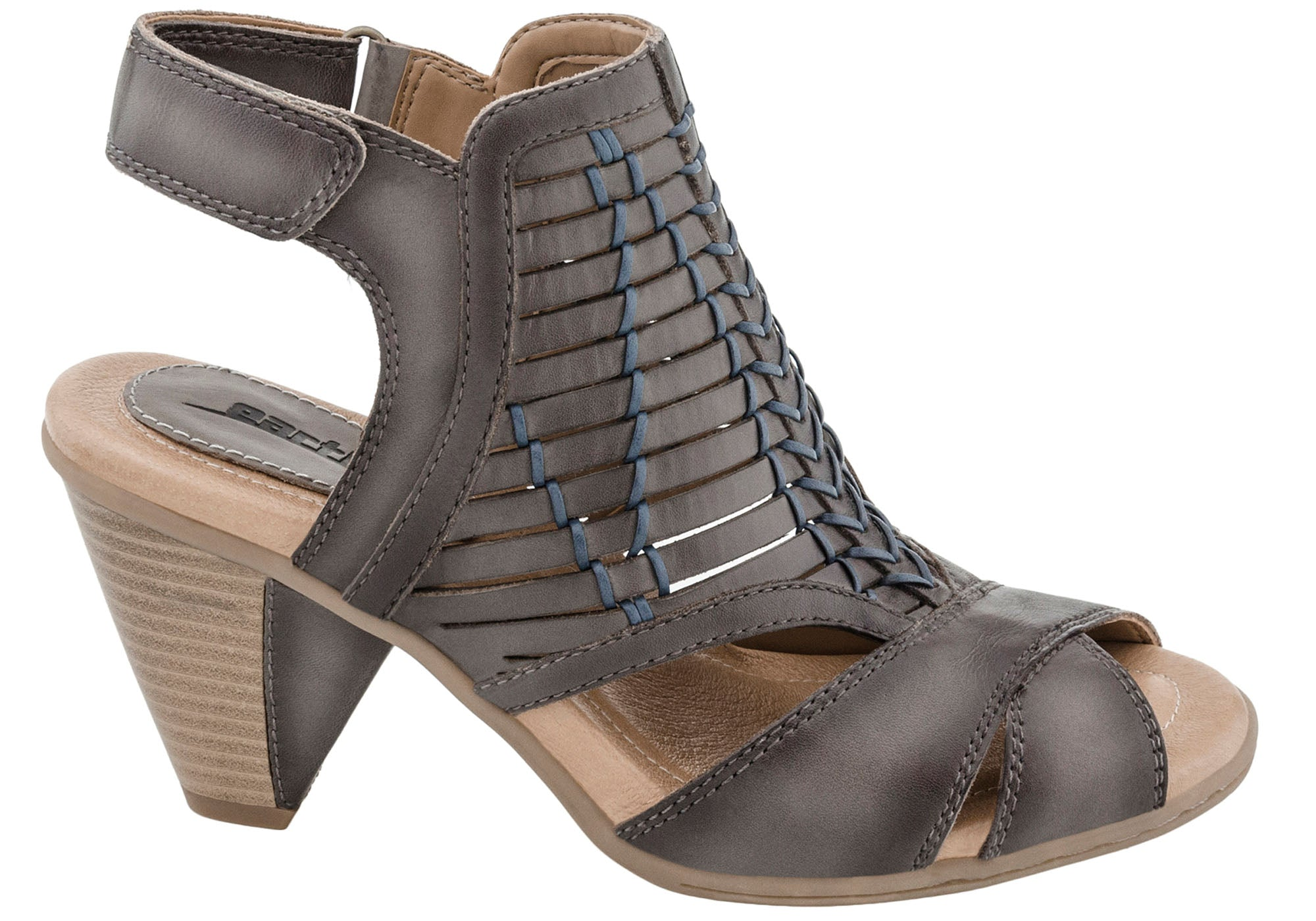 8946c0166d Earth Libra Womens Comfortable Leather Mid Heel Sandals | Brand ...