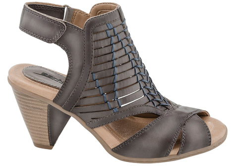 Earth Libra Womens Comfortable Leather Mid Heel Sandals