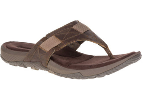 Merrell Terrant Thong Mens Comfortable Leather Sandals