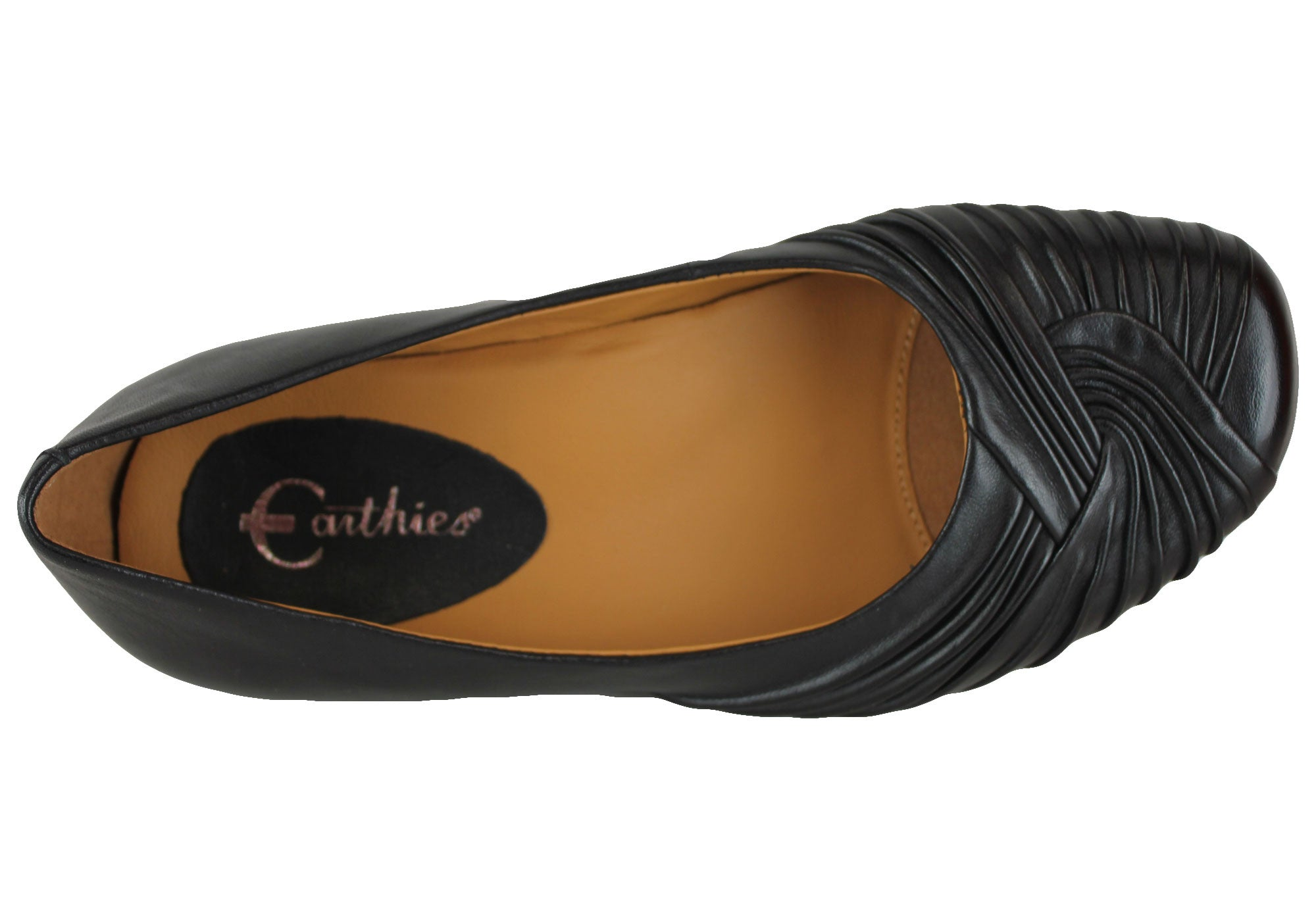 Earthies Vanya Womens Leather Comfortable Flats