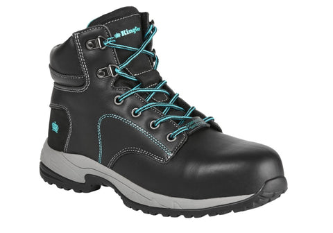 King Gee Womens Tradie Zip Black Work Boots