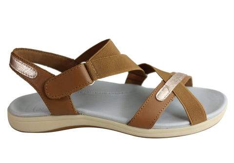 Scholl Orthaheel Kinetic Womens Comfortable Sandals With Support