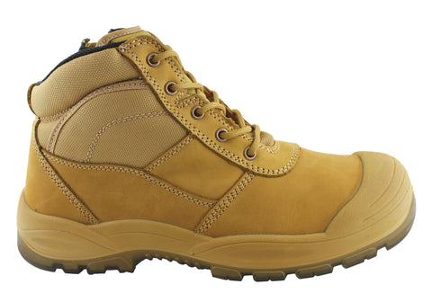 Hard Yakka Mens Utility Steel Toe Safety Side Zip Boots