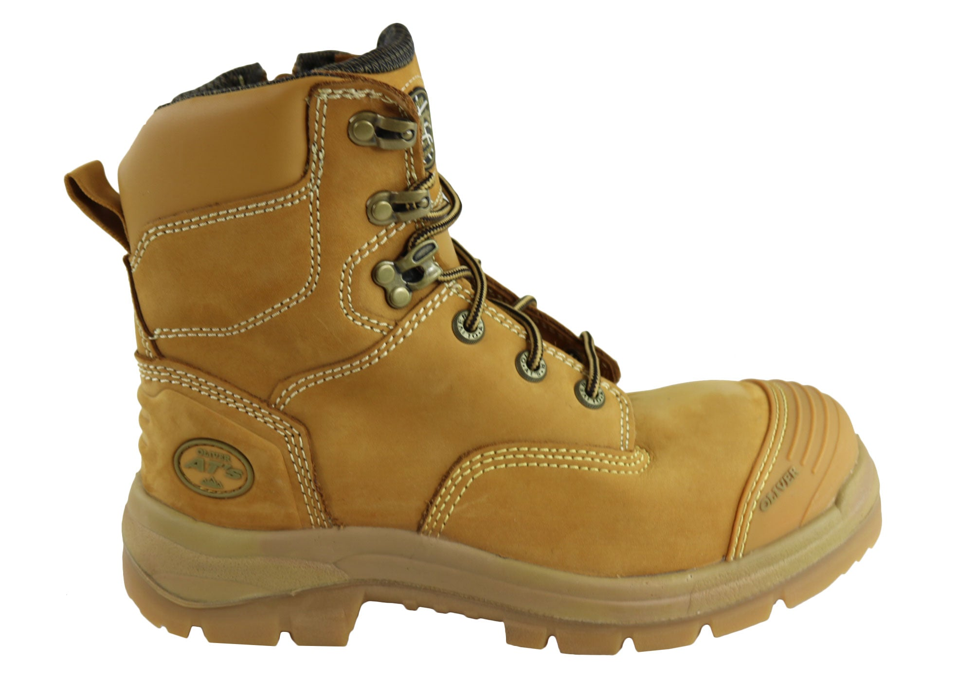 cf6cfed76f9 Oliver Mens AT 55332Z Lace Up Zip Side Steel Cap Work Boots | Brand ...