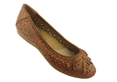 Planet Shoes Ebb Womens Comfort Leather Flats