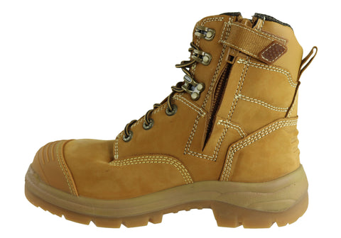 bf749558721 Oliver Mens AT 55332Z Lace Up Zip Side Steel Cap Work Boots | Brand ...