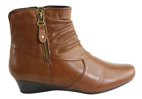 Natural Comfort Molly Womens Comfortable Leather Ankle Boots