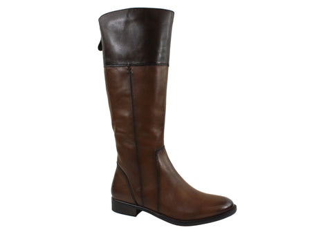 ... Gino Ventori Eagle Womens Leather Knee High Boots ...