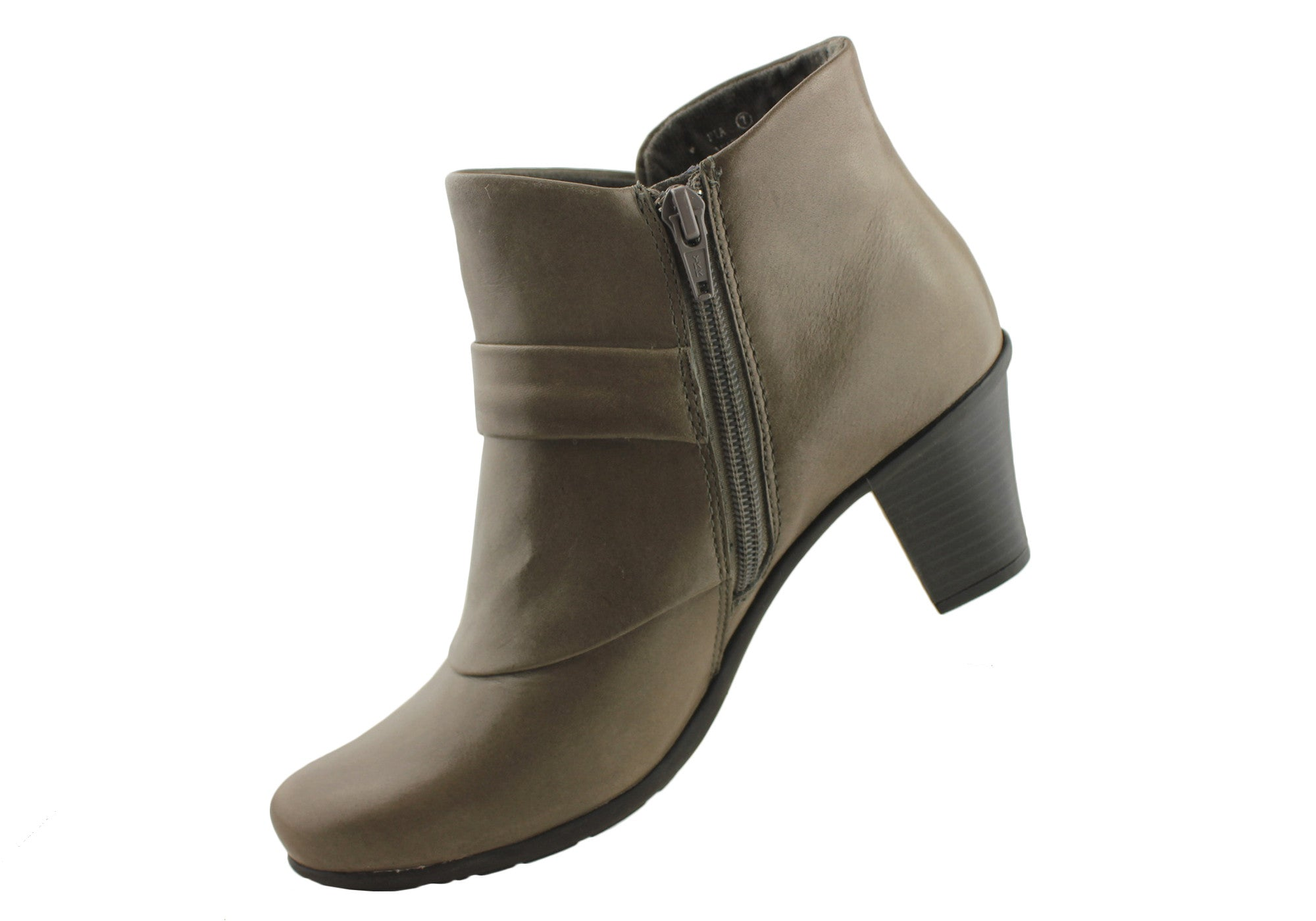 Planet Shoes Pia Womens Leather Medium Heel Ankle Boots