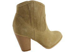 Bonbons Darci Womens Leather Suede Ankle Boots