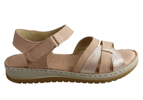Orizonte Strive Womens European Leather Comfortable Cushioned Sandals