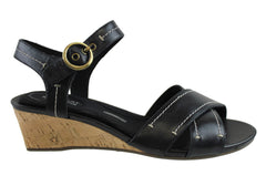 Rockport Womens Total Motion Stitched Quarter Strap Sandal