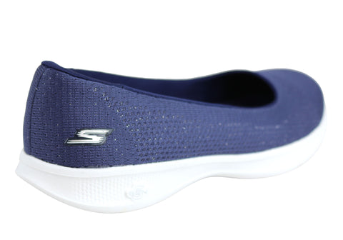 fa8ee9b00111 Skechers Go Step Lite Stardust Womens Comfortable Ballet Flats ...