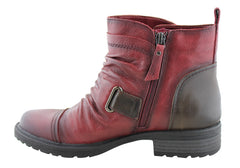 Earth Jericho Womens Comfortable Leather Ankle Boots