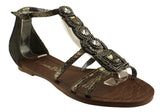 Isabella Brown Passion Womens Flat Sandals