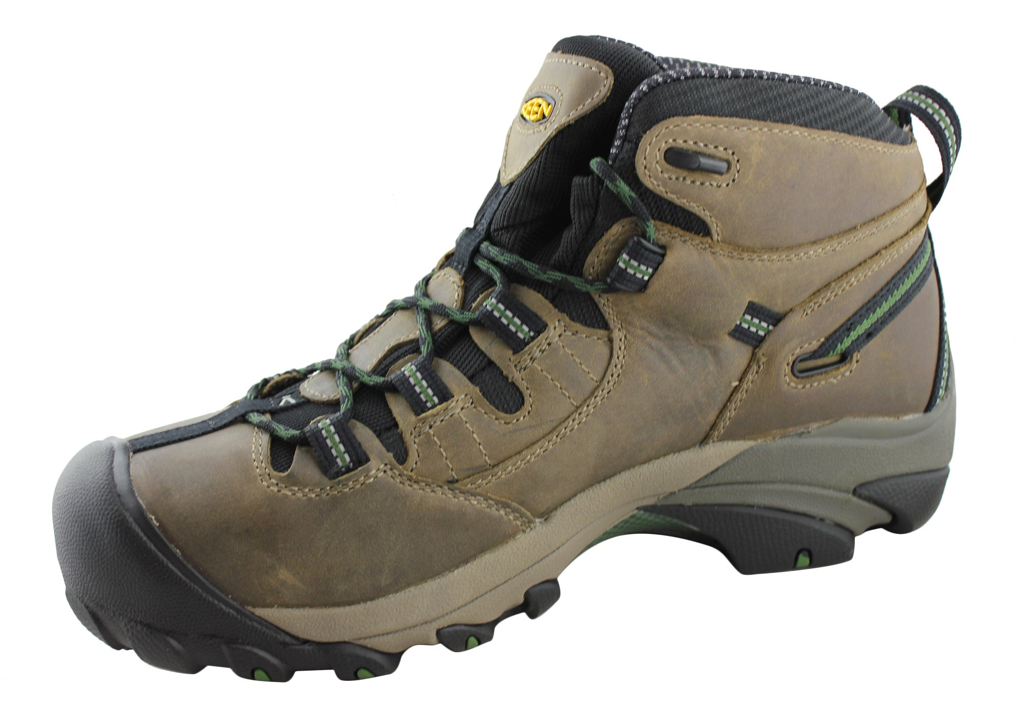96c601f9e2e Keen Detroit Mid Mens Steel Toe Lace Up Wide Fit Boots
