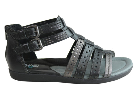 Planet Shoes Belgian Womens Comfy Leather Supportive Gladiator Sandals