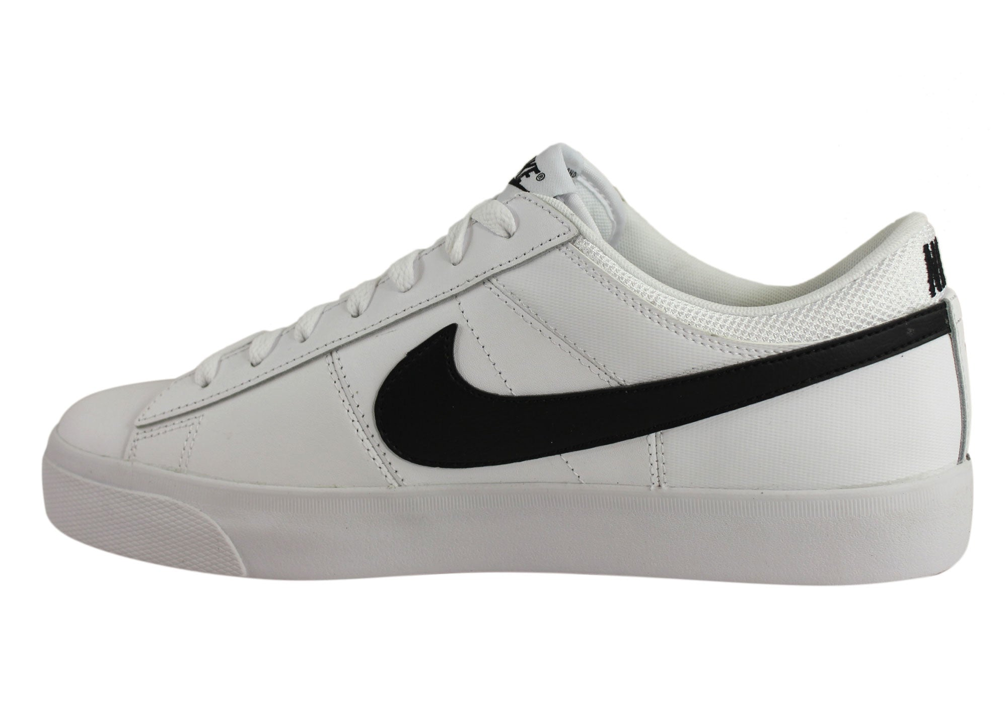696bb4163a12 Nike Match Supreme Leather Mens Lace Up Tennis Casual Shoes