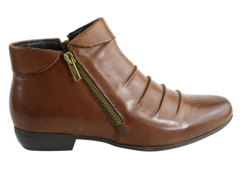 Natural Comfort Julie Womens Comfortable Leather Ankle Boots