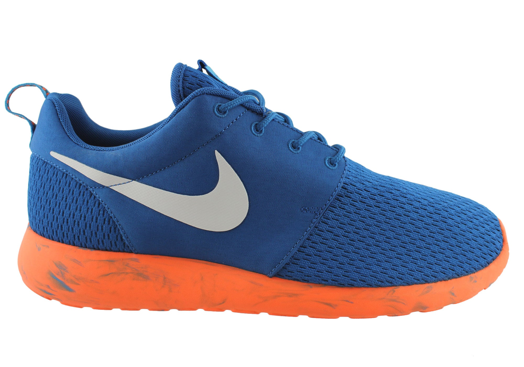 timeless design a67e8 99a0f Home Nike Roshe Run Mens Lightweight Running Casual Shoes. Blue  ...