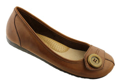 Planet Shoes Tali Womens Leather Ballet Flats