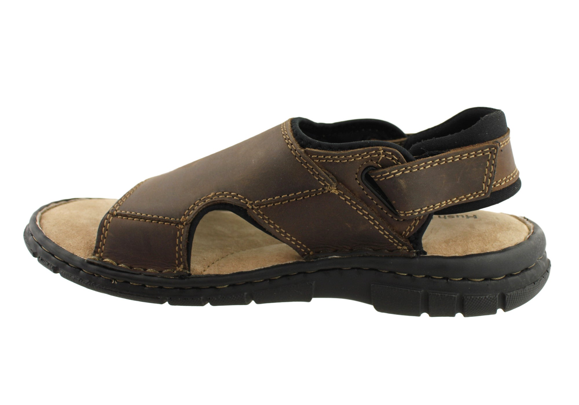 Hush Puppies Wake Mens Leather Sandals