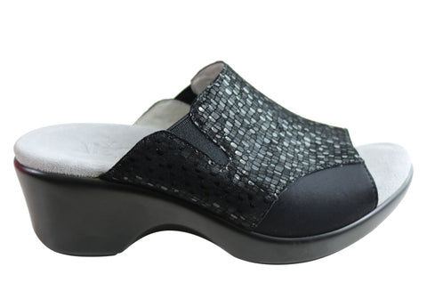 Alegria Ryli Womens Comfortable Leather Slides