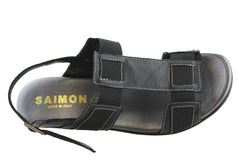 Saimon 161 Womens Italian Leather Comfort Sandals
