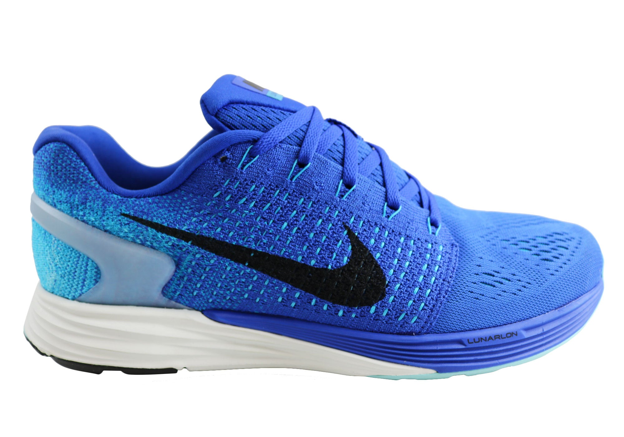 764fa1448bde Home Nike Lunarglide 7 Mens Cushioned Light Weight Running Sport Shoes.  Black ...