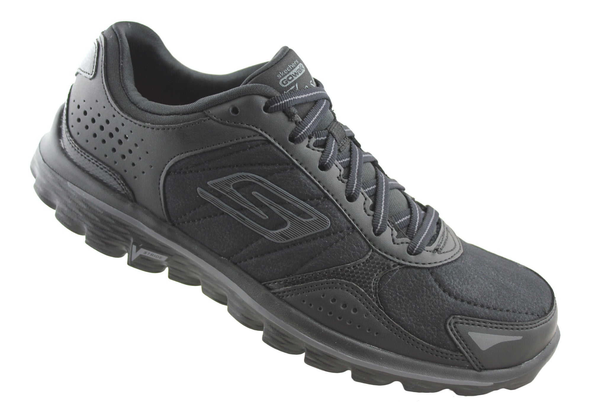 Skechers Womens Go Walk 2 Flash LT Lace Up Shoes