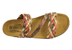 Sabatini 1021 Womens Comfort Slides Made In Italy