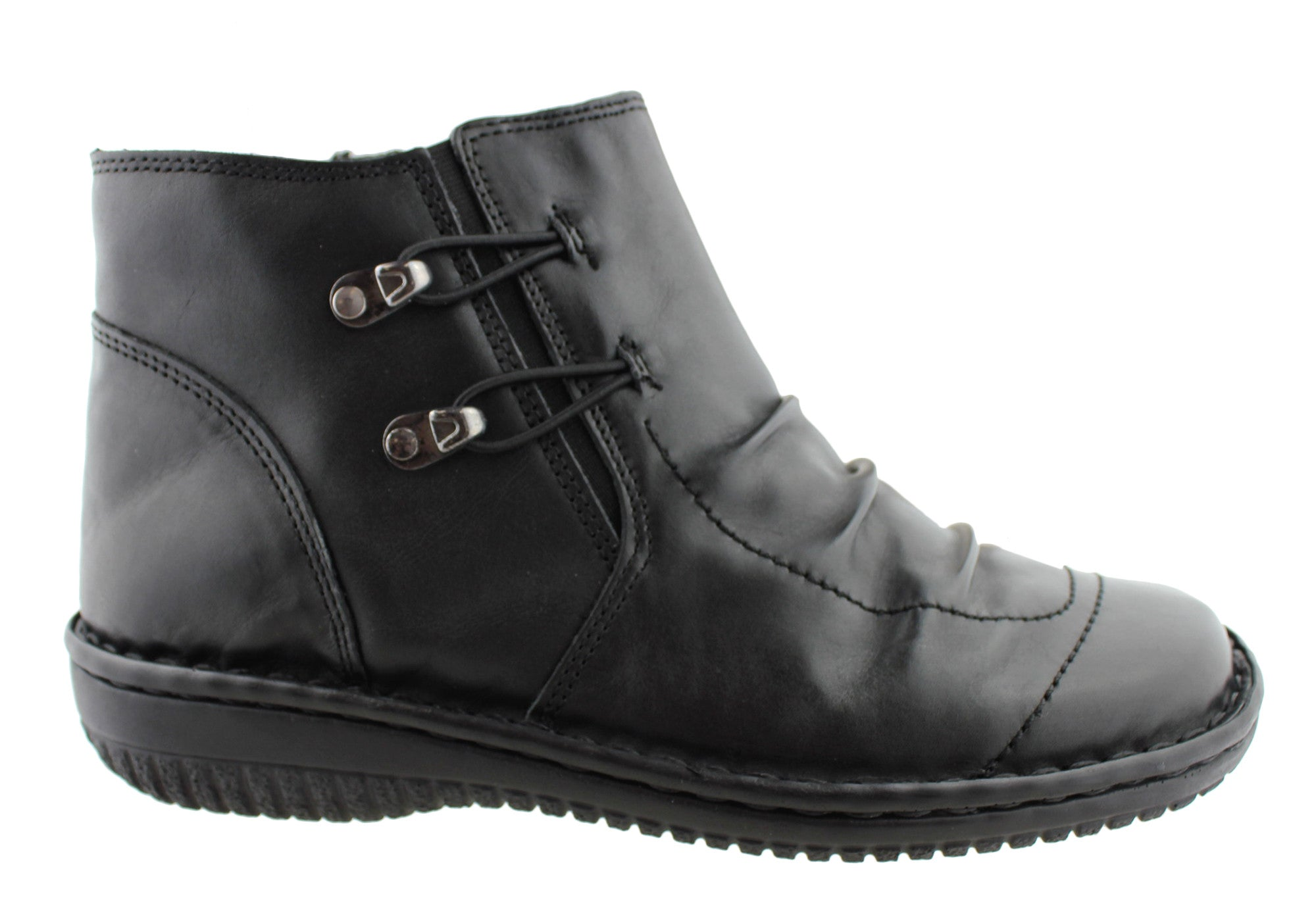 ca09f707ff1 Home Cabello Comfort Womens Leather Ankle Boots. Black ...