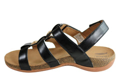 Scholl Orthaheel Aztec Womens Comfort Supportive Adjustable Sandals