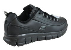 Skechers Womens Sure Track Trickel Leather Slip Resistant Work Shoes