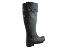 Earth Woodstock Womens Premium Leather Knee High Boots
