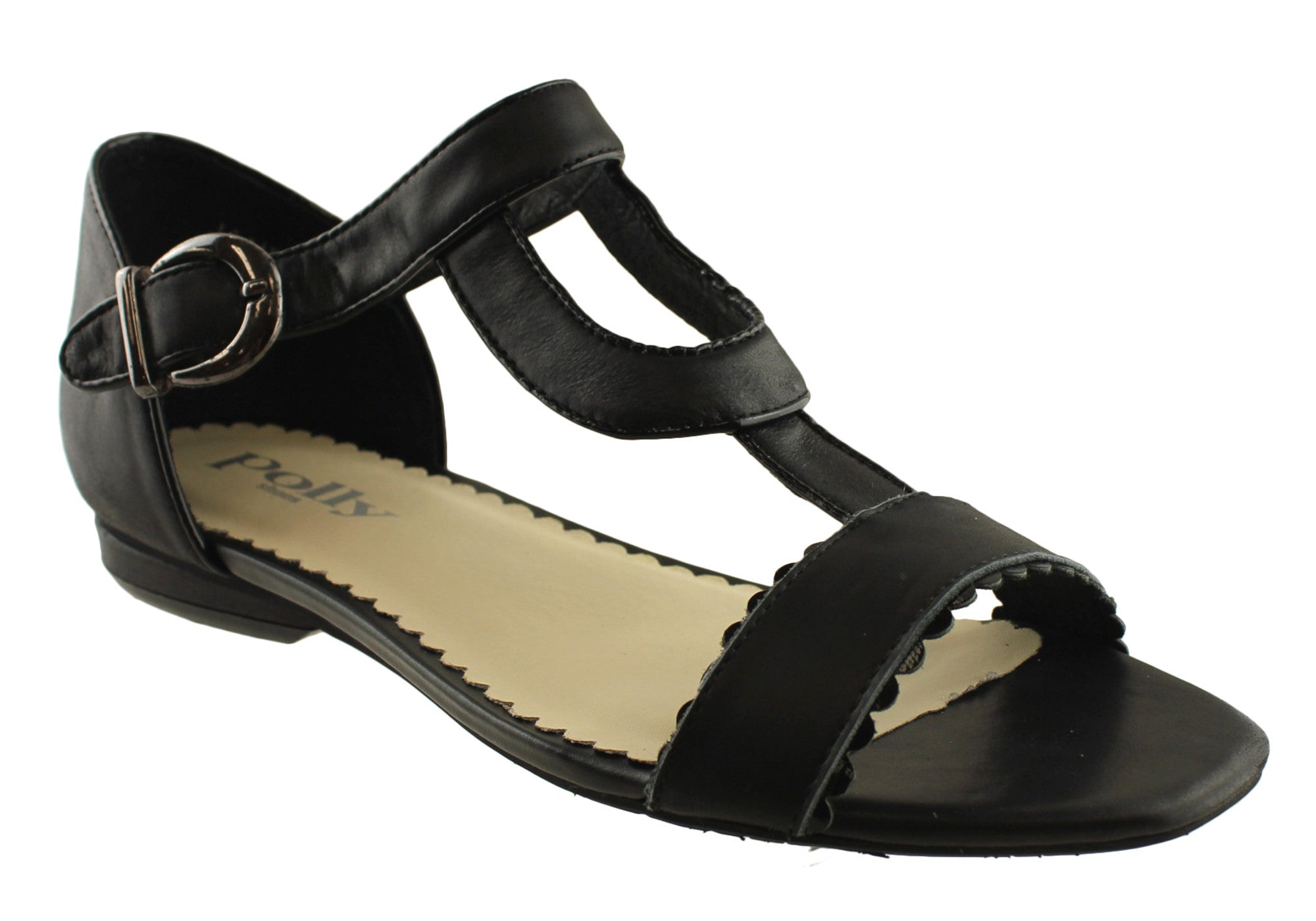 Jane Womens Leather Sandal by Polly Shoes