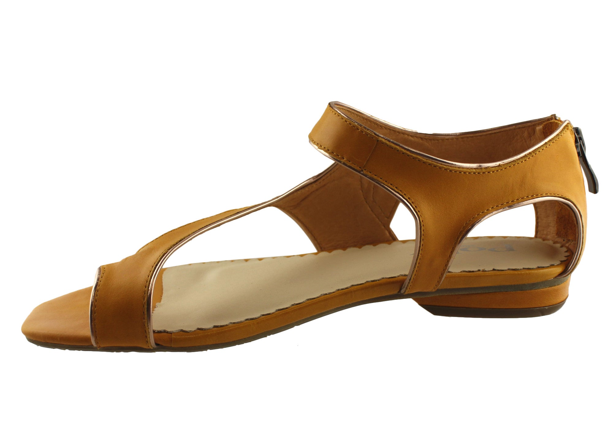 Jaffa by Polly Shoes Womens Leather Strappy Sandals