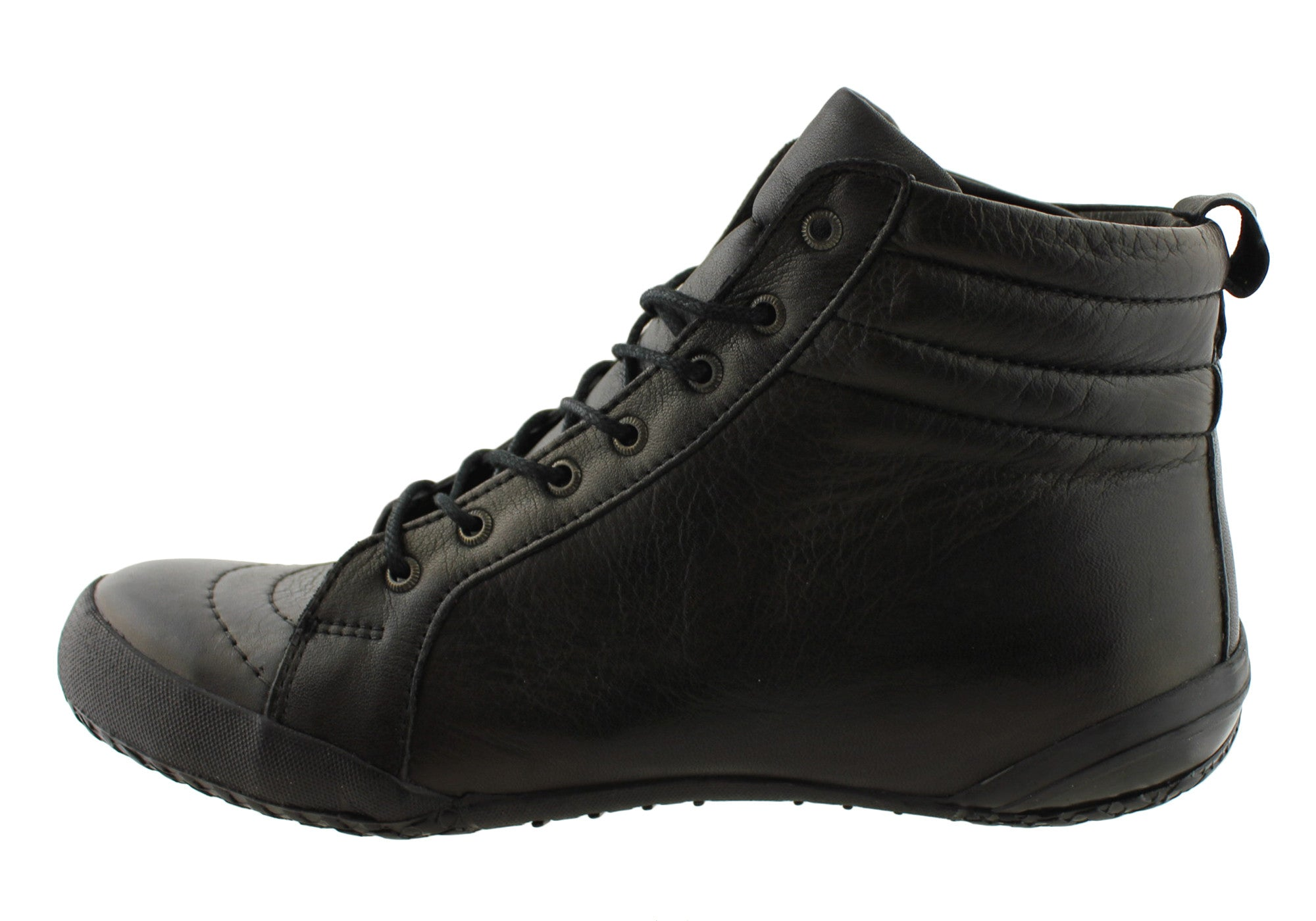 Cabello Comfort Womens Leather Lace Up Ankle Boots