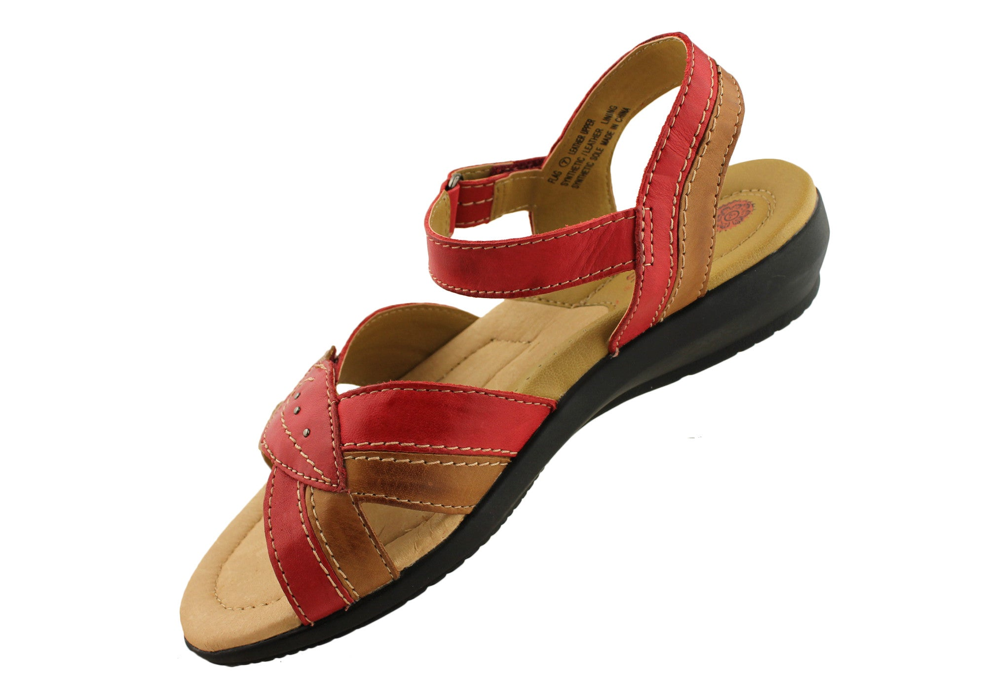 Planet Shoes Flag Womens Leather Comfortable Sandals