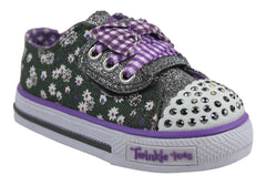 Skechers S Lights Shuffles Daisy Dotty Girls Shoes