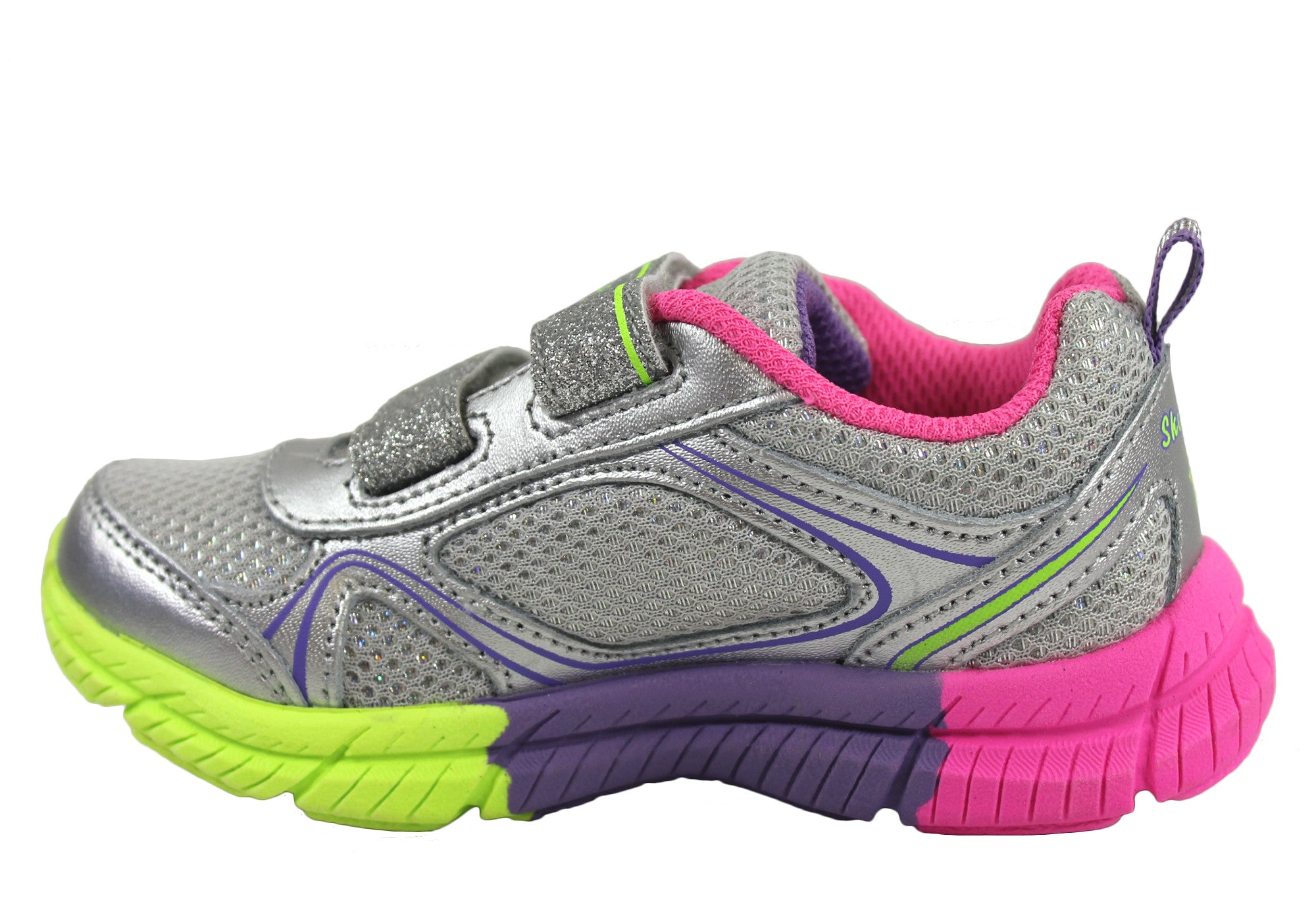 Skechers Swivels Double Glitter Toddlers Girls Shoes